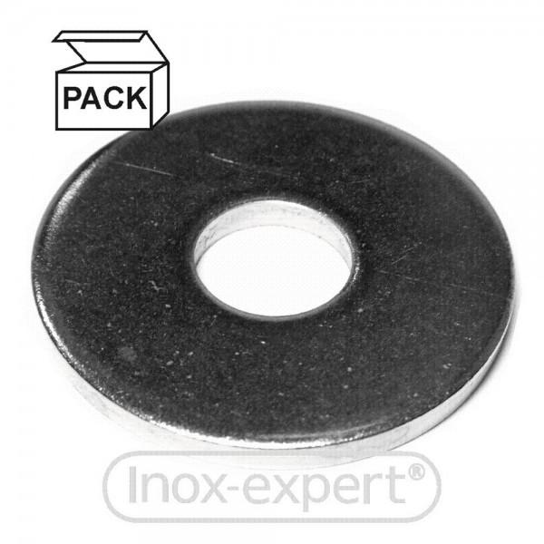 PACKUNG (200 Stk) UNTERLEGSCHEIBEN BREIT DIN 440 R 6,6 mm A4