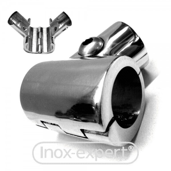 t st ck 25mm 60 rohrverbinder klappbar a4 rohrverbinder rohr reling handlauf inox expert. Black Bedroom Furniture Sets. Home Design Ideas