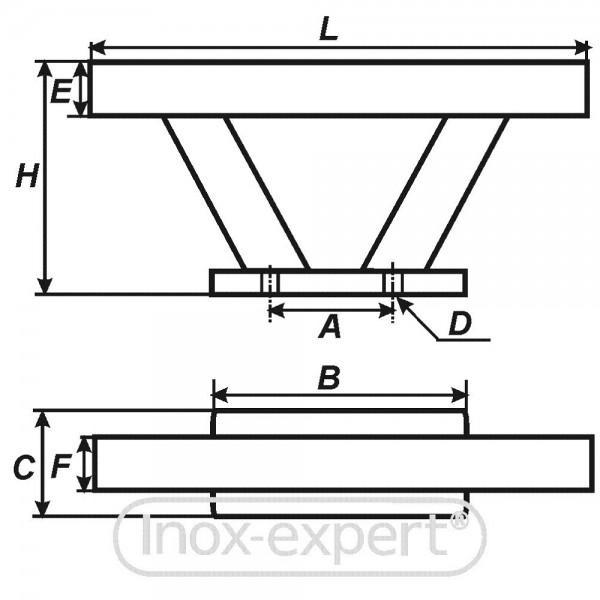 klampe 300 mm a4 skandinavisches design klampen. Black Bedroom Furniture Sets. Home Design Ideas