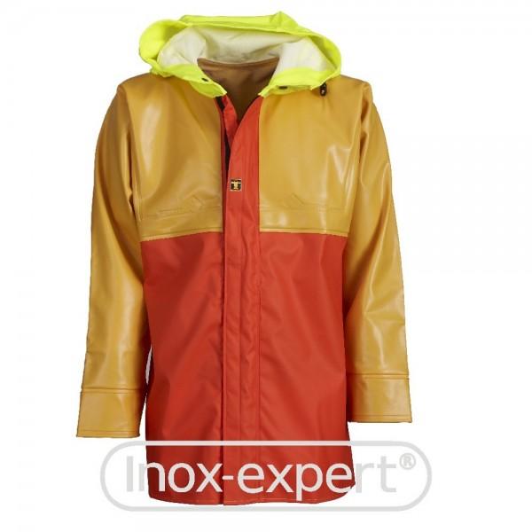 SEGELJACKE ISOPRO GR. XL - GUY COTTEN - ROT/GELB