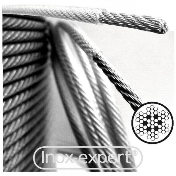 DRAHTSEIL 2/3MM 7X7 A4 PVC TRANSPARENT